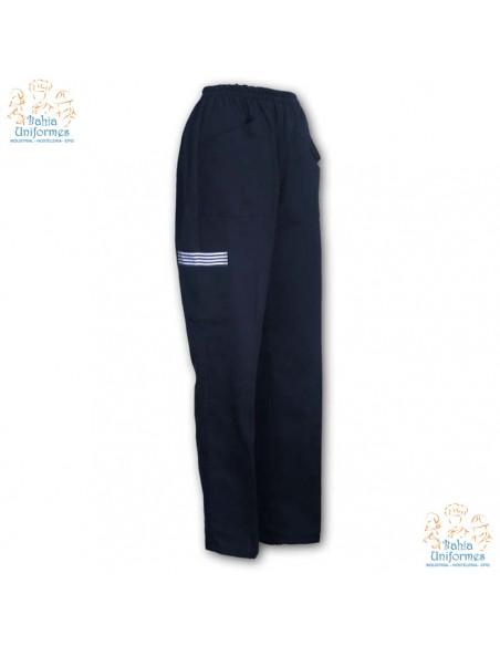 - Composición: 65% Poliester,35% Algodón - Pantalón pijama de mujer con cinturilla elástica, tres bolsillos uno de ellos con v