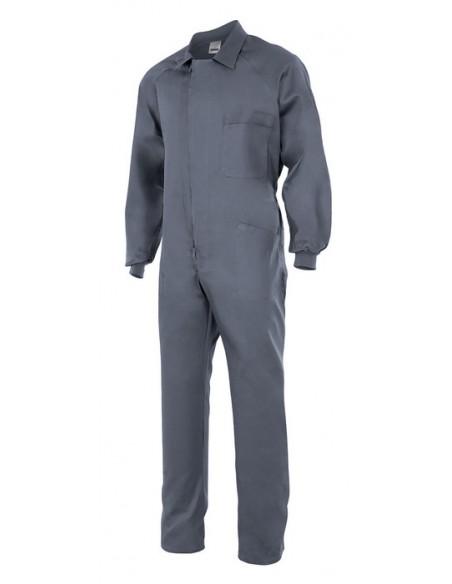 - Mono modelo italiano de algodón con manga ranglan, cremallera central, puños elásticos y cinco bolsillos con costura de segur