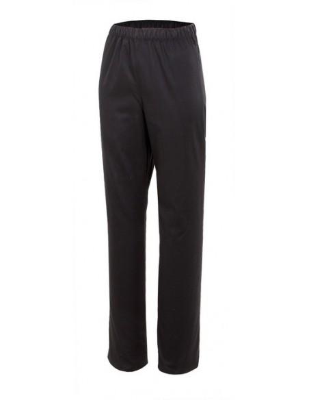pantalón pijama con cinturilla elástica y un bolsillo trasero, sin botón y sin cremallera.