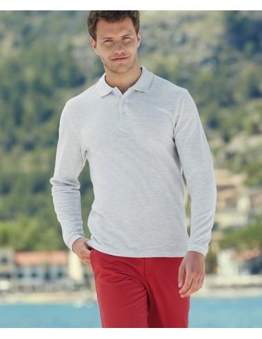 180 g/m² (White: 170 g/m²) 100% algodón (Ash: 90% algodón, 10% poliéster) Tapeta de 3 botones del mismo color Puños en canal