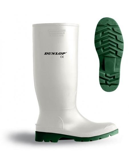 Bota de agua blanca PVC/Nitrilo caña alta. Aplicaciones: Trabajos en condiciones de humedad extrema o con agua. Especialmente