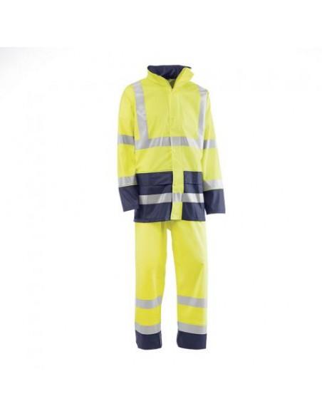 Bandas reflectantes. Costuras termosoldadas. La chaqueta dispone de dos bolsillos frontales con tapeta. Puño elástico interior