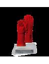 Serraje Vacuno Rojo Costuras Reforzadas Forro Franela Hilo Kevlar