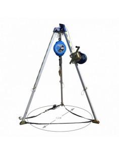 Se trata del kit básico anticaídas para trabajos en espacios confinados que requiera un sistema de ascenso y descenso. El kit s