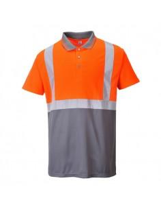 Las prendas deportivas de alta visibilidad están hechas de tejido fluorescente, 100% poliéster, certificado EN ISO 20471. La