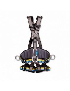 Arnés polivalente para trabajos en altura y suspensión con 1 punto de anclaje dorsal + 1 punto de anclaje esternal + cinturón d