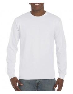 203 g/m² (Blanco: 196 g/m²)  100% algodón peinado  Sport Grey: 90% algodón, 10% poliéster  Graphite Heather: 50% algodón,