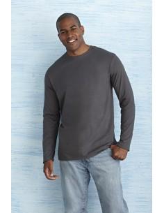 Descripción: 141 - 150 g/m² 100% Algodón Jersey pre-encogido Sport Grey: 90% Algodón, 10% Poliéster Estilo más suave Cuell