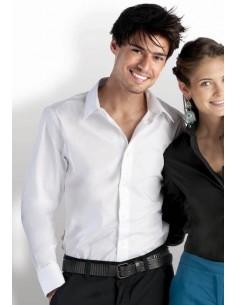 97% Cotton / 3% elastano. Estilo amueblada. Un solo botón de cuello deshuesado corte awauy semi Cross cosida botones de color a