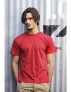 Camiseta manga corta. Tejido tubular. Cuello lycra. Doble costura en cuello, mangas y bajo. Refuerzo de hombro a hombro. XS - 3