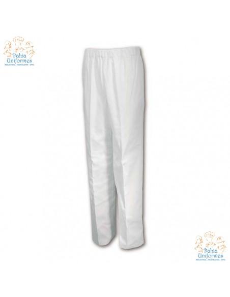 -Composición: 65% Poliester, 35% Algodón -Pantalón pijama blanco con cinturilla elástica y un bolsillo trasero, sin botón y si