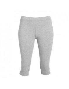 Malla deportiva mujer, media pierna con apertura y cintura elástica. 92% algodón / 8% elastano, punto liso, 270 g/m2. Color Gr