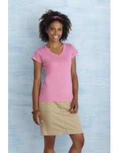 141-150 g/m² 100% algodón jersey pre-encogido (Sport Grey: 90% algodón, 10% poliéster) Muy suave Cuello en canalé sin puntad