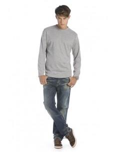 Descripción: 185 g/m² 100% algodón (Sport Grey: 85% algodón, 15% viscosa) Cuello doble con un 5% de elastán Encintado de ho
