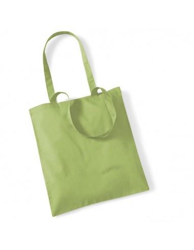 140 g/m² 100% algodón Asas tamaño medio (67 cm) Se puede llevar en la mano o al hombro Adecuado para impresión y bordado C