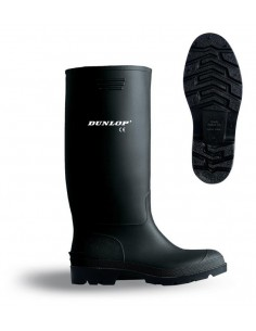 Bota de agua PVC caña alta negra. Aplicaciones: Trabajos en condiciones de humedad extrema o con agua, para usos en exterior (