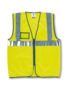 Chaleco Alta Visibilidad. Amarillo Cremallera y portaidentificación. Talla M|L|XL|XXL EN 340 EN 471 12