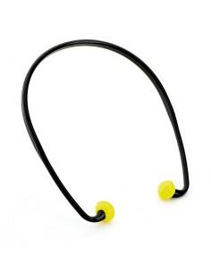 """Mod. """"BANDED"""". Tapón auditivo con banda. Características: Tapón de espuma de poliuretano con banda, de atenuación baja (20dB)."""