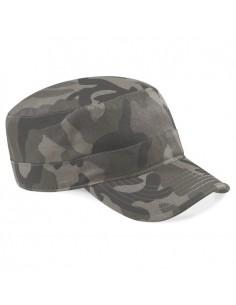 100% algodón Diseño estilo militar Visera con 6 filas de pespuntes Cierre ajustable Rip-Strip™