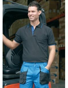 Con bolsillo en el pecho. Tejido de algodón 100%. 210 gr/m2. Color: Negro. Detalles en azulina. Embalaje exclusivo para pun