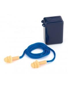 """Mod. """"FIT EAR"""". Tapón auditivo silicona reutilizable con cordón. Características: Tapón auditivo reutilizable de silicona hipo"""
