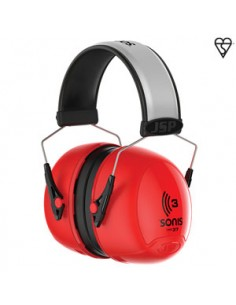 Sonis® 3 Overmoulded Defensor de Oído de Copa Pequeña con Cinta Reflectante   La gama de protectores de oído Sonis® ha sido d