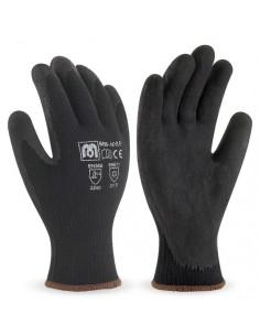 Guante de nylon color negro con recubrimiento de látex en color negro. Aplicaciones: Manipulación General. Riesgos Mecánicos y