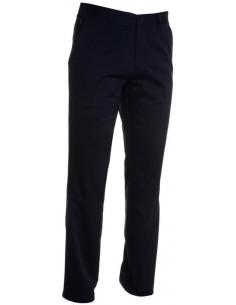 Pantalón clásico de todas las estaciones para hombres con cierre de cremallera con botón, trabillas en la cintura, bolsillos fr