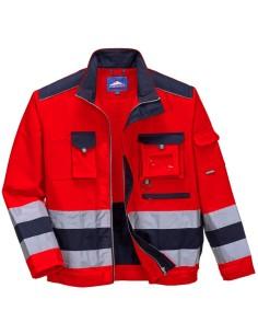 Esta elegante chaqueta bicolor cuenta con útiles detalles como un bolsillo en el dorso para gorro y guantes. El bolsillo fronta