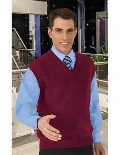 Chaleco con cuello abierto en forma de pico, confeccionado en tejido de punto. Bajo elástico para un mejor ajuste de la prenda