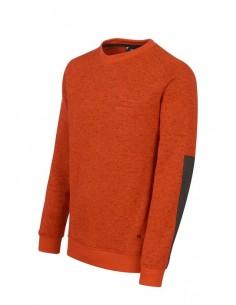 Jersey de caballero regular fit con cuello redondo.   Manga larga ranglán que aporta deportividad a la prenda.  Puños y baj