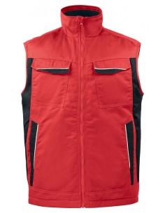 Chaleco acolchado en poliéster/algodón Easy Care. Ideal para trabajos industriales. Alta densidad de color. Dos bolsillos front